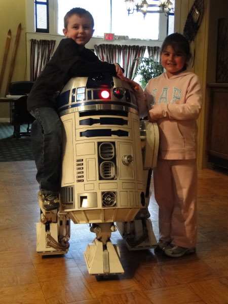 Jesse, R2-D2 and Julia