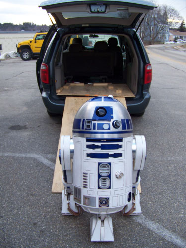 R2-D2 Transporting to Events 2010
