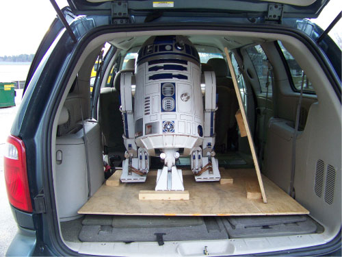 R2-D2 Transporting to Events